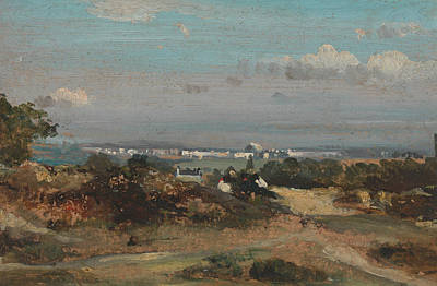 Painting - A View In Suffolk by Frederick W Watts