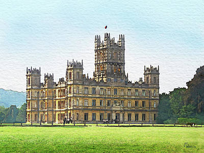 Digital Art - A View Of Highclere Castle by Joe Winkler