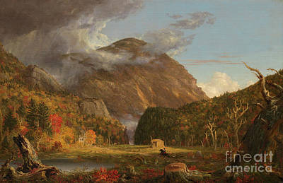 Painting - A View Of The Mountain Pass Called The Notch Of The White Mountains  Crawford Notch by Thomas Cole