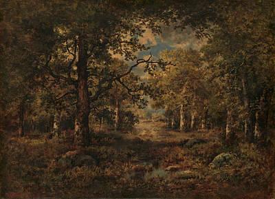 Painting - A Vista Through Trees - Fontainebleau by Narcisse Virgilio Diaz