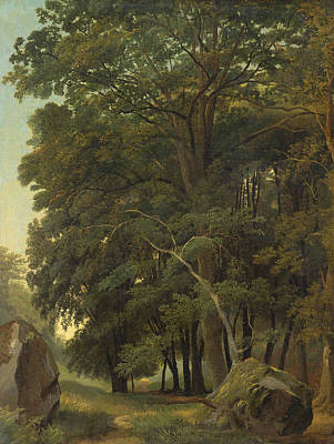 Painting - A Wooded Landscape by Ramsay Richard Reinagle