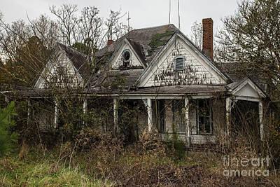Amy Hamilton Watercolor Animals - Abandoned Farm House by Rick Mann