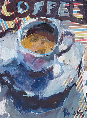 Painting - Abstract Coffee Cup Print by Robert Joyner