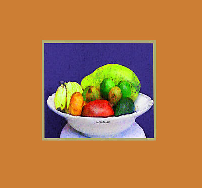 Digital Art - Abstract Fruit Art   112 by Miss Pet Sitter