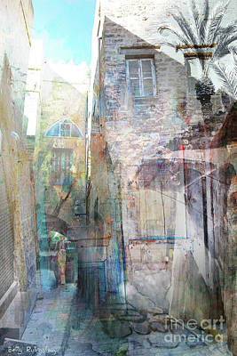Mixed Media - Abstract Old Jaffa-14 by Betty Rubinstein