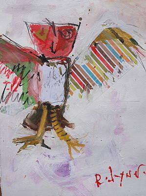 Pastel - Abstract Owl Art by Robert Joyner