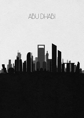 Digital Art - Abu Dhabi Cityscape Art V2 by Inspirowl Design