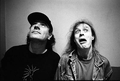 Photograph - Acdc Angus Young And Brian Johnson by Martyn Goodacre