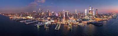 Photograph - Aerial Panorama Of New York Skyline by Mihai Andritoiu