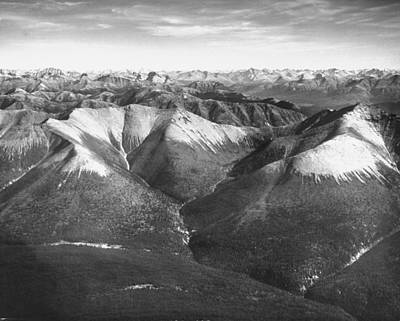 Photograph - Aerial View Of Snow-capped Mountain Rang by Margaret Bourke-white