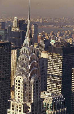 Photograph - Aerial View Of The Chrysler Building by New York Daily News Archive