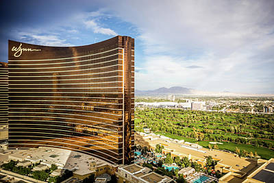 Photograph - Aerial Views Of Las Vegas Nevada City by Alex Grichenko
