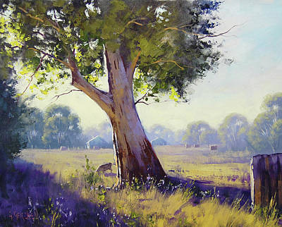 Impressionism Royalty-Free and Rights-Managed Images - Afternoon Light Grazing by Graham Gercken