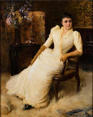 American West - Albert Edelfelt, Madame Cohen by Celestial Images