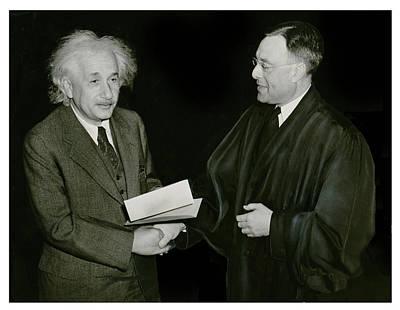 Photograph - Albert Einstein by Carlos Diaz