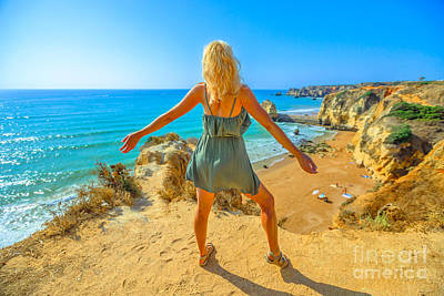 Photograph - Algarve Carefree Woman by Benny Marty