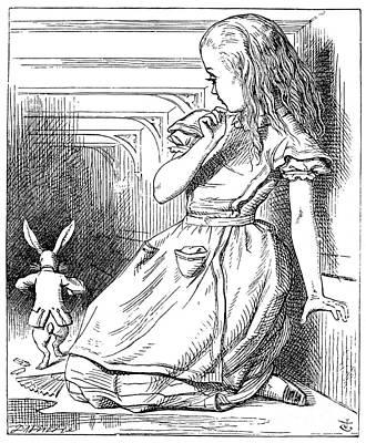 Drawing - Alice In Wonderland by John Tenniel