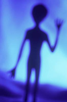 Hand Photograph - Alien Waving by Steven Puetzer