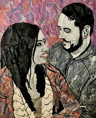 Mixed Media - All About Our Love by Deborah Stanley