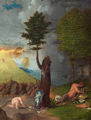 Painting - Allegory Of Virtue And Vice by Lorenzo Lotto