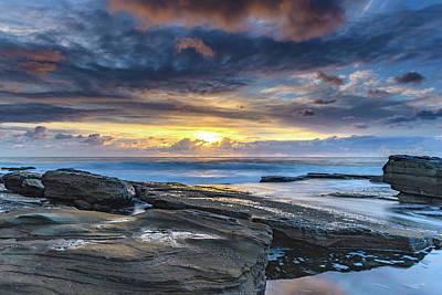 An Atmospheric Coastal Sunrise Art Print