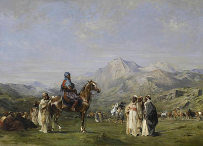 Painting - An Encampment In The Atlas Mountains by Eugene Fromentin
