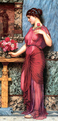 Painting - An Offering To Venus by John William Godward