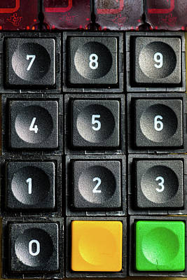 Auditors Wall Art - Photograph - An Old Numeric Keypad With Additional Buttons by Stefan Rotter