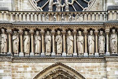 Photograph - Architectural Details Cathedrale Notre Dame De Paris France by Wayne Moran