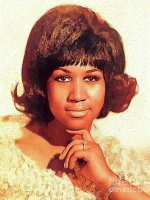 Music Royalty-Free and Rights-Managed Images - Aretha Franklin, Music Legend by John Springfield