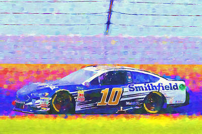 Mixed Media Royalty Free Images - aric Almirola Royalty-Free Image by David Ridley