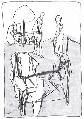 Drawing - Armchair by Artist Dot