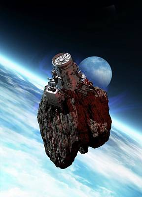 Asteroid Mining, Artwork Art Print by Victor Habbick Visions