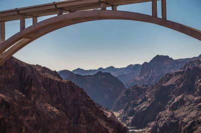 Photograph - At Hoover Dam Nevada Arizona State Line by Alex Grichenko