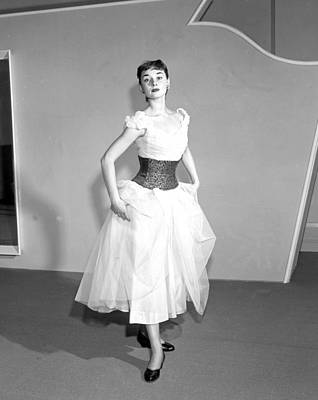 Photograph - Audrey Hepburn Star Of Broadway Play by New York Daily News Archive