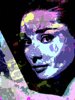 Curated Bath Towels - Audrey Hepburn by Stars on Art