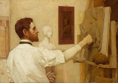Painting - Augustus Saint-gaudens by Kenyon Cox