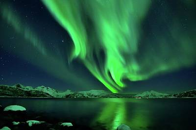 Photograph - Aurora Night by John Hemmingsen