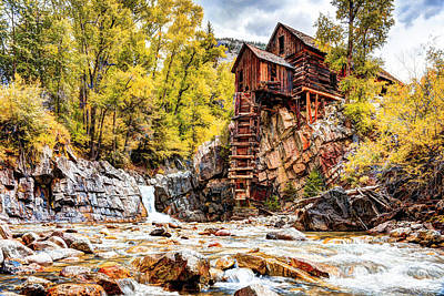 Photograph - Autumn At The Crystal Mill by Jean Hutchison