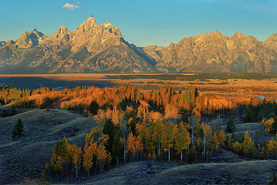 Photograph - Autumn Beneath The Tetons by Greg Norrell