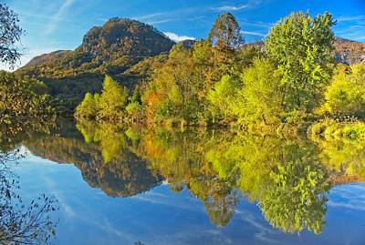 Photograph - Autumn Reflections by Allen Nice-Webb
