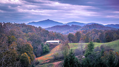 Photograph - Autumn Season And Sunset Over Boone North Carolina Landscapes by Alex Grichenko