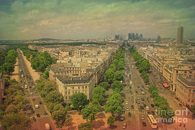 Paris Skyline Royalty-Free and Rights-Managed Images - Avenue des Champs-Elysees by IB Photography