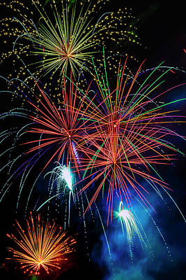 Photograph - Awesome Amazing Fireworks by Garry Gay