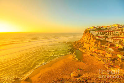 Photograph - Azenhas Do Mar At Sunset by Benny Marty