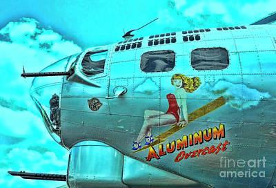 Photograph - B-17 Aluminum Overcast Pin-up by Allen Beatty
