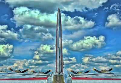 Photograph - B-17 Tail Fin by Allen Beatty