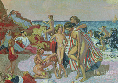 Painting - Bacchus And Ariadne, 1907 by Maurice Denis