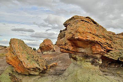 Photograph - Balanced Rock In Bentonite Site by Ray Mathis
