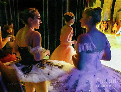 Photograph - Ballerina Discussions by Craig J Satterlee